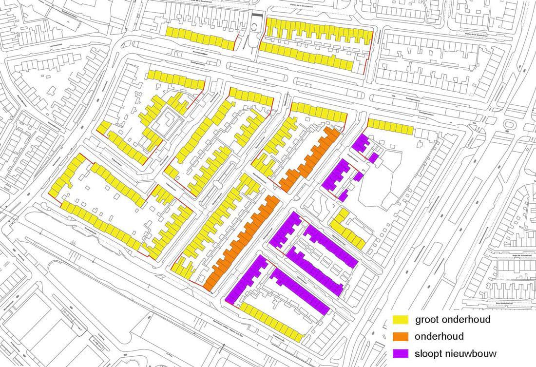plattegrond tuinstadwijk met plannen