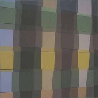 kunstwerk met geblokt motief gebruikt in de gebouwen van de zuiderdiep gemaakt door ben zegers