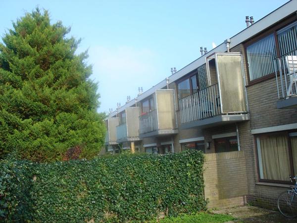 achteraanzicht van de tuinzijde van de jan van galenstraat in de bestaande situatie voor de renovatie