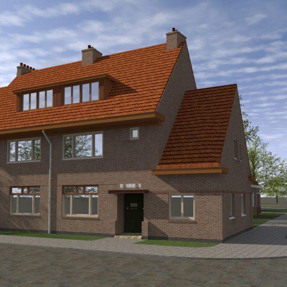 Betondorp, artist impression renovatie Zaaiersweg hoek Landbouwstraat